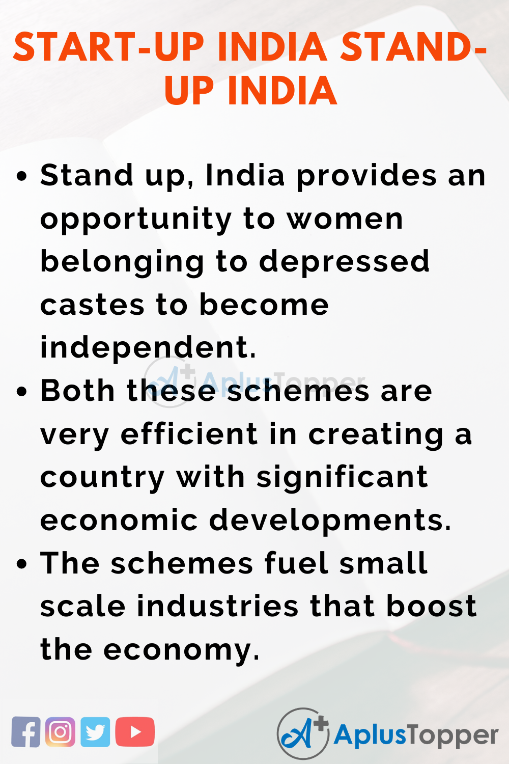 Essay on Start-Up India Stand-Up India