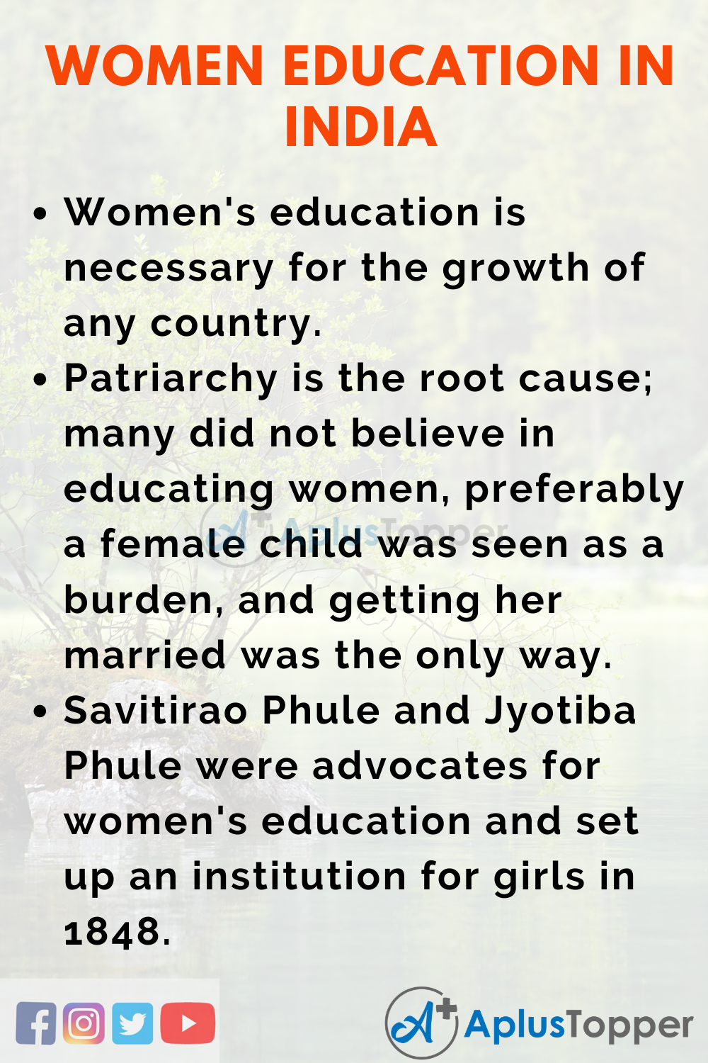 Essay on Women Educcation in India