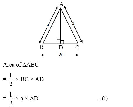 How to find the Areas of an Isosceles Triangle and an Equilateral Triangle 3