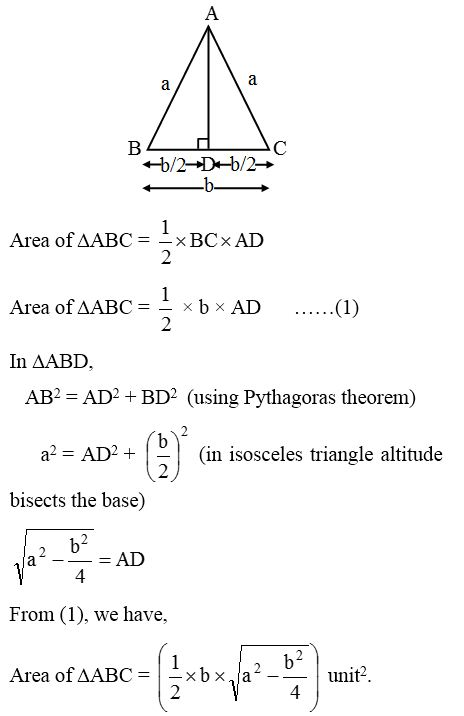 How to find the Areas of an Isosceles Triangle and an Equilateral Triangle 5