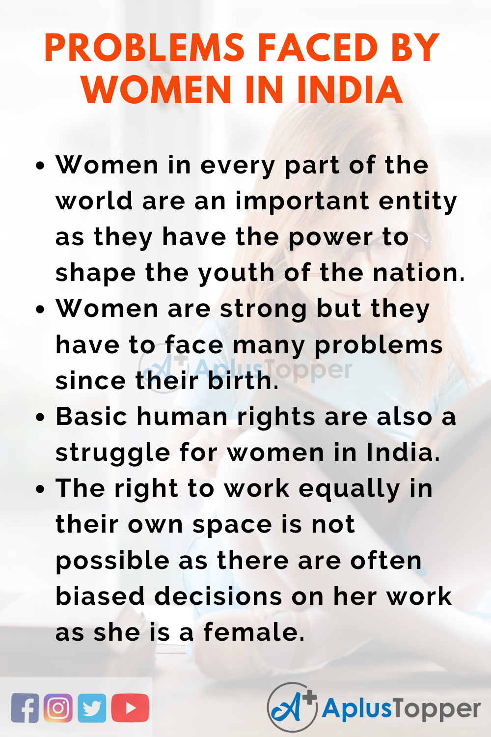 Issues and Problems Faced by Women in India
