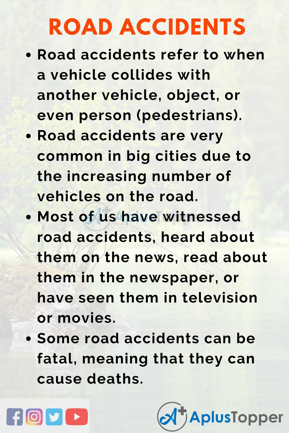 Road Accident Essay
