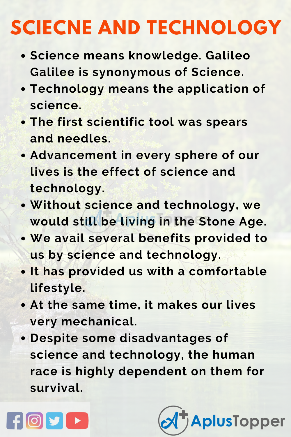 Science and Technology Essay
