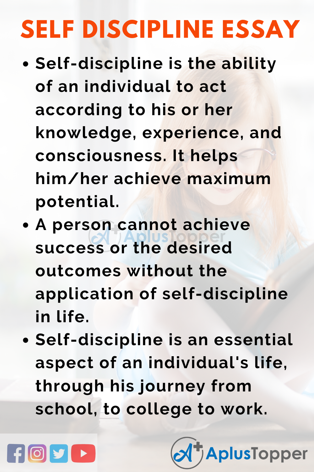 Self Discipline essay and its importance