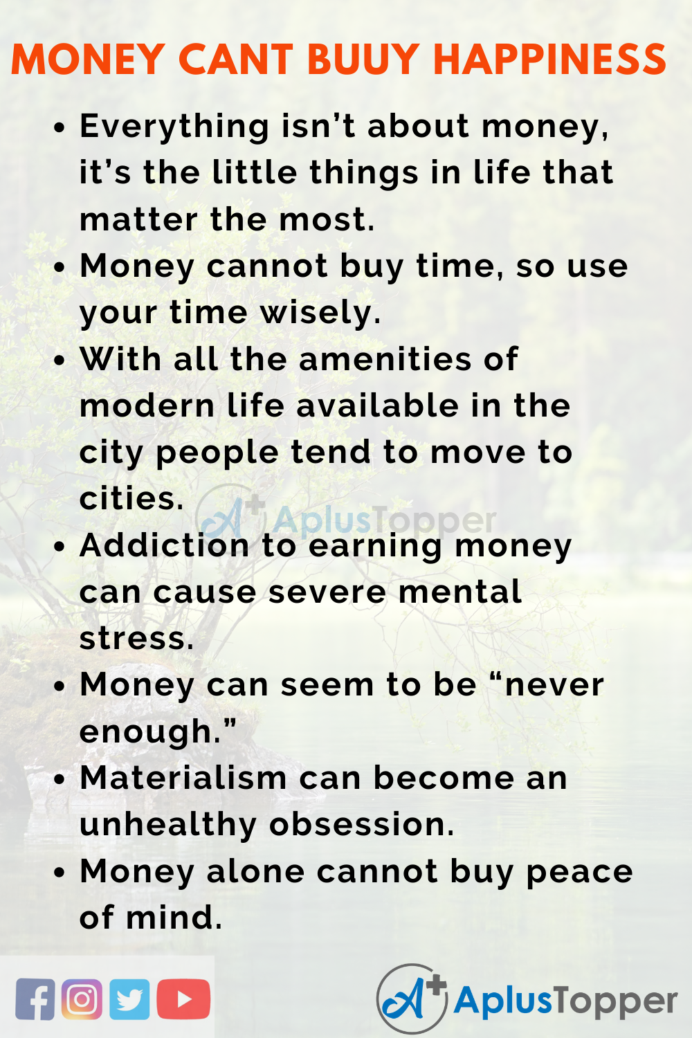 Can Money Buy Happiness Essay
