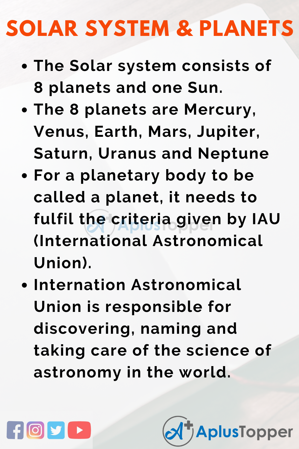 Solar System and Planets Essay