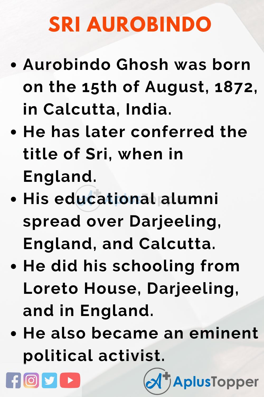 Sri Aurobindo Essay