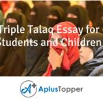 Triple Talaq Essay