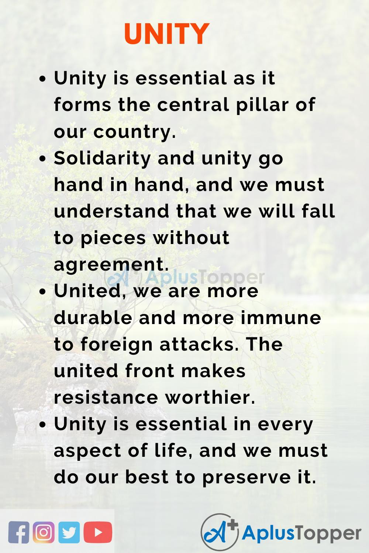Unity Essay