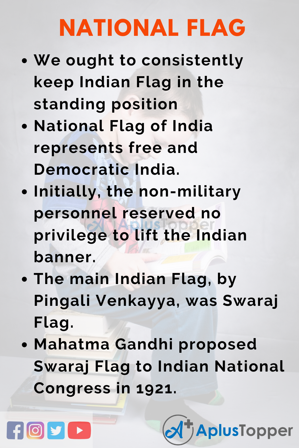 10 Lines On National Flag for Higher Class Students