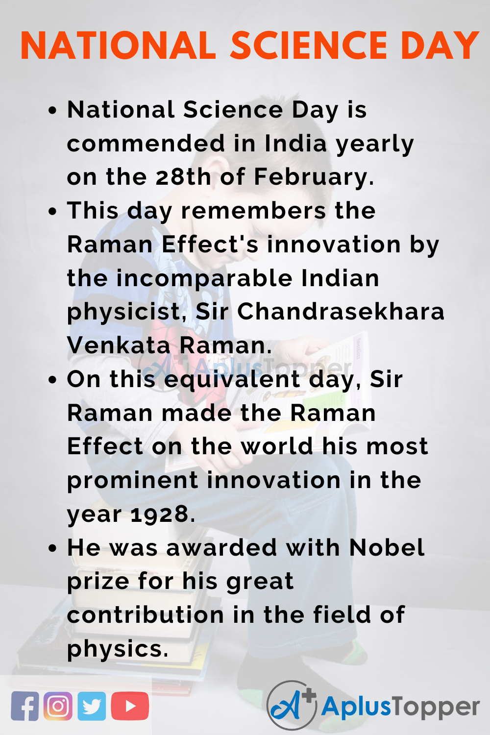 10 Lines On National Science Day for Higher Class Students