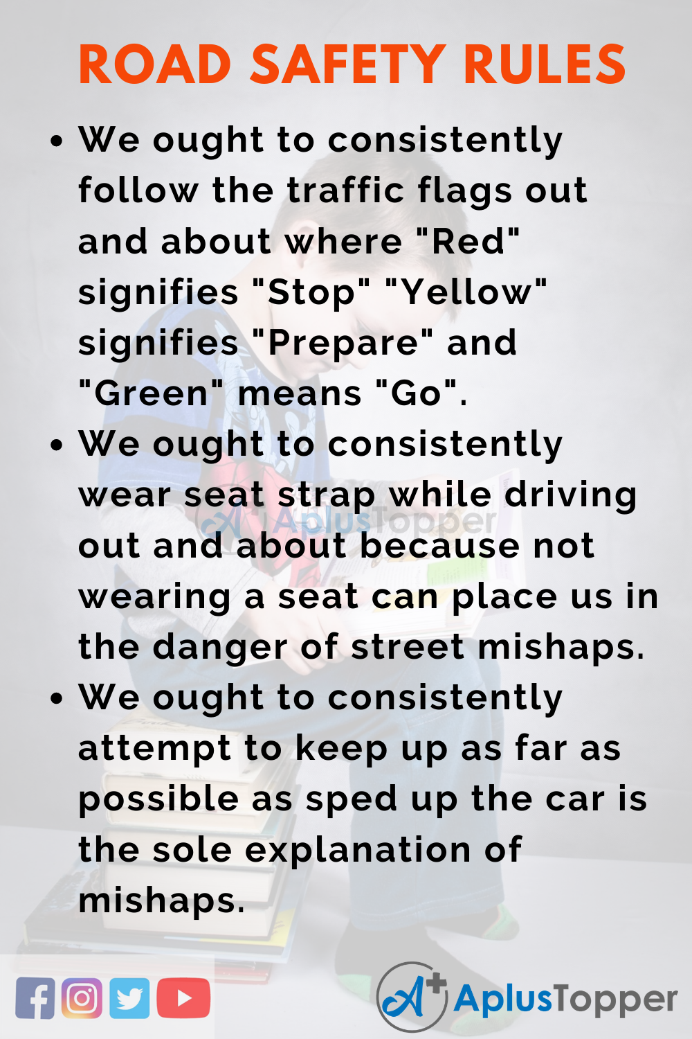 10 Lines On Road Safety Rules for Higher Class Students