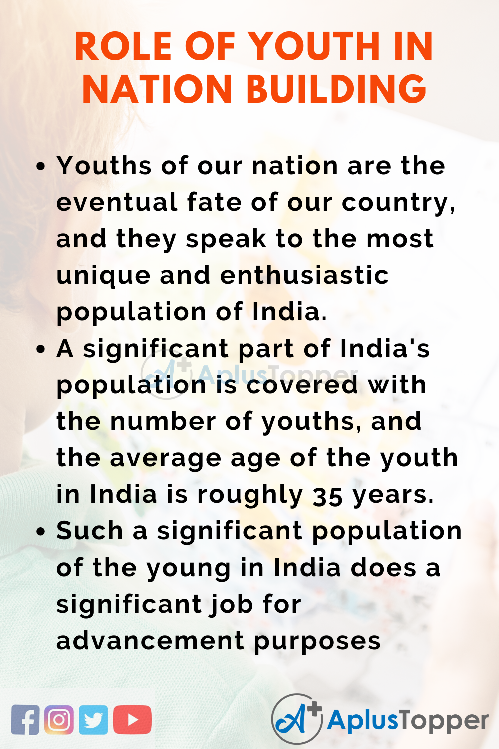 10 Lines On Role Of Youth In Nation Building for Higher Class Students