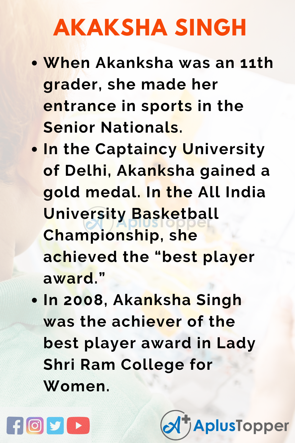 10 Lines on Akanksha Singh for Higher Class Students