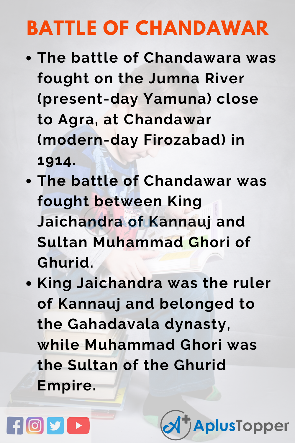 10 Lines on Battle of Chandawar for Higher Class Students