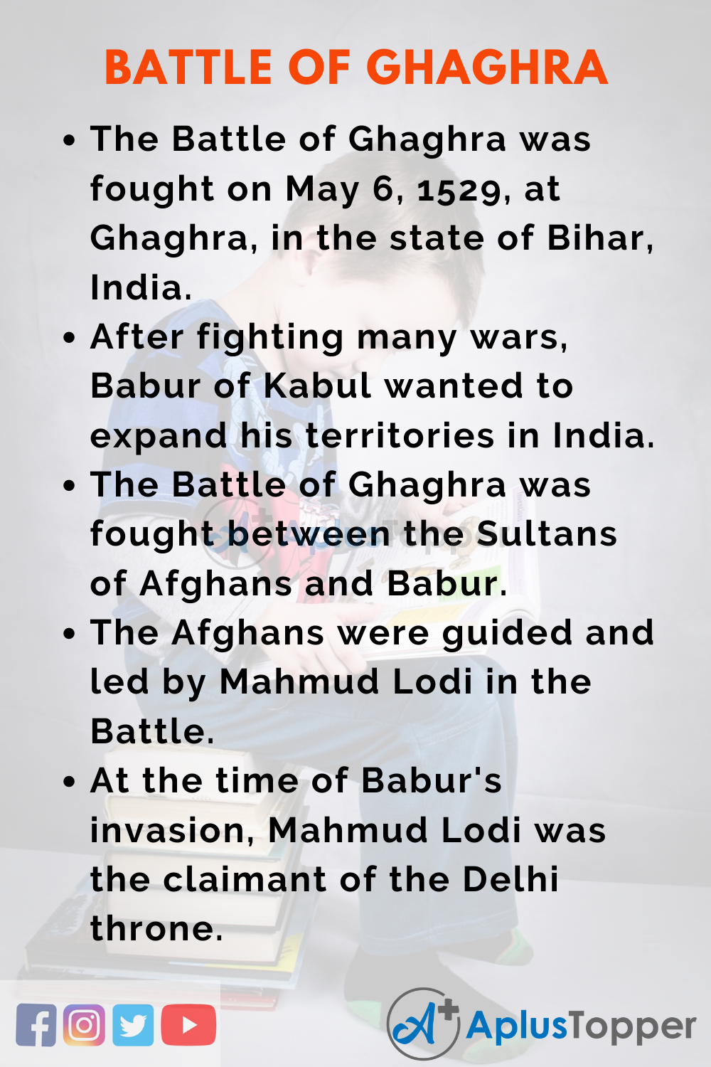 10 Lines on Battle of Ghaghra for Kids