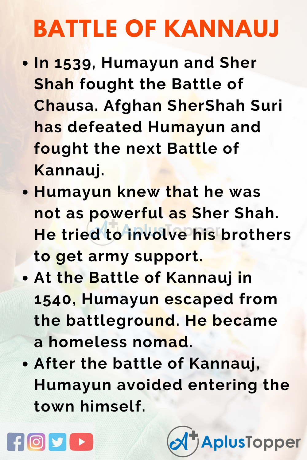 10 Lines on Battle of Kannauj for Higher Class Students