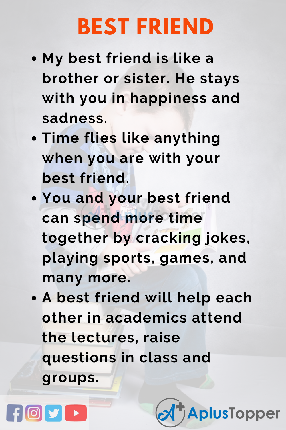 10 Lines on Best Friend for Higher Class Students