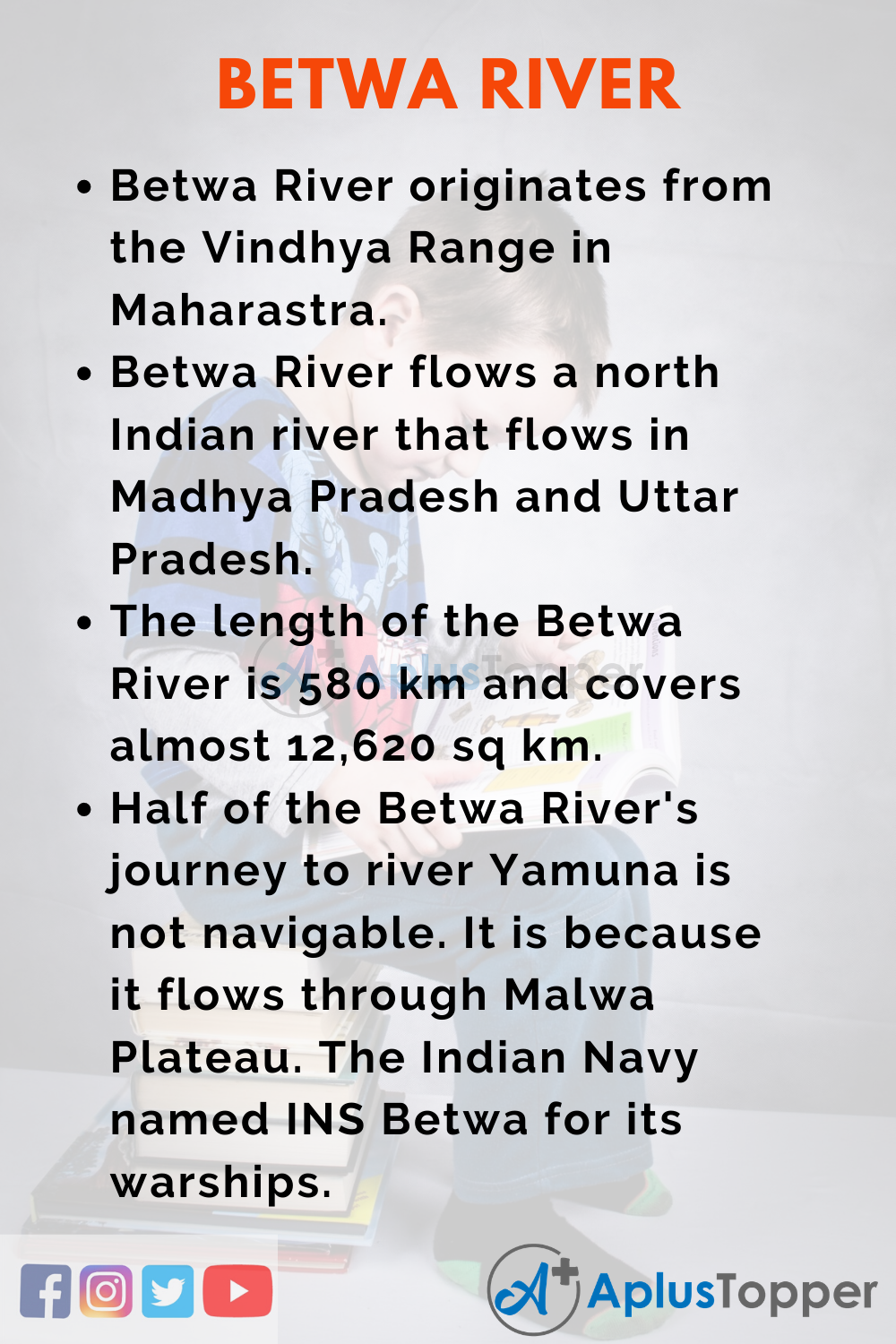 10 Lines on Betwa River for Kids