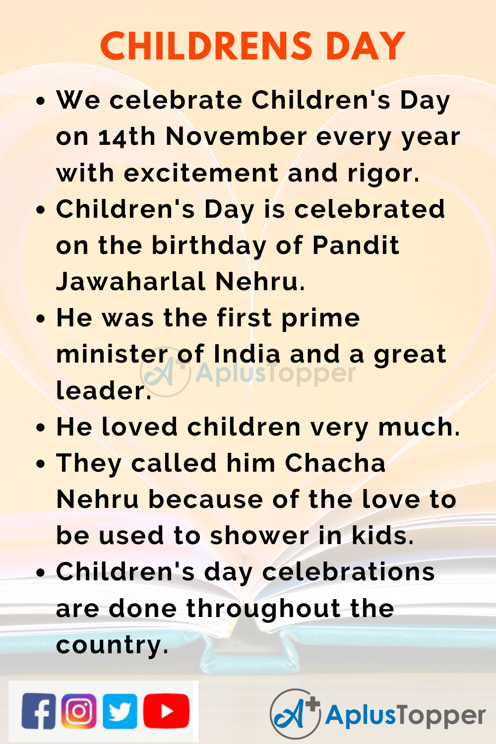 10 Lines on Children's Day for Kids