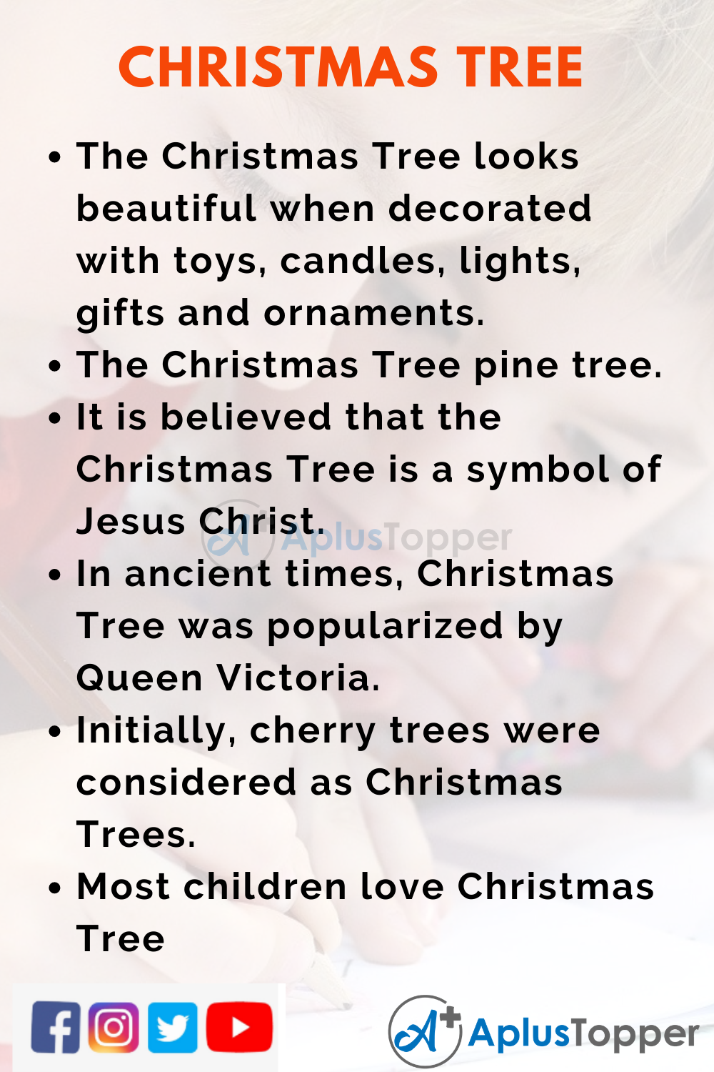 10 Lines on Christmas Tree for Higher Class Students