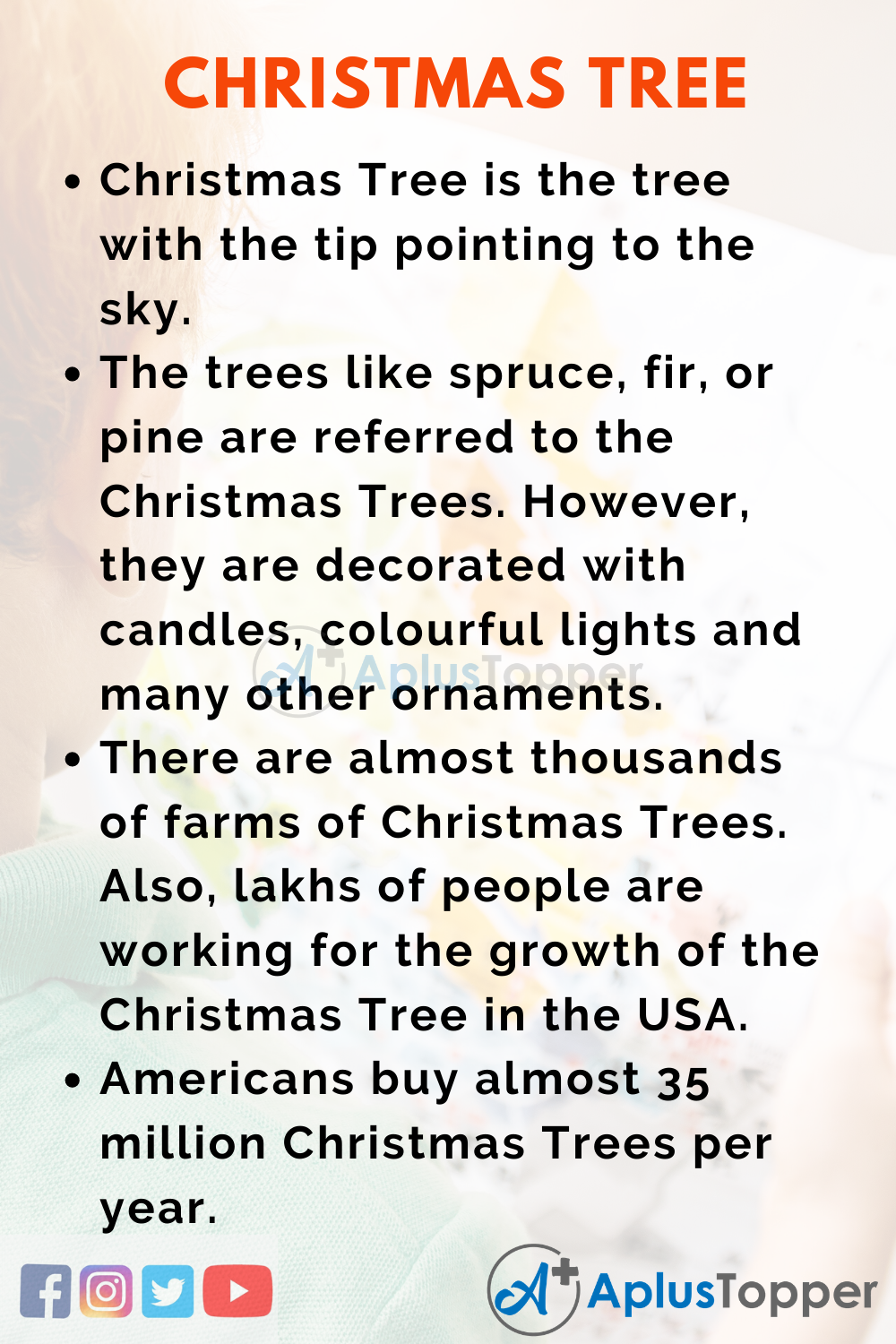 10 Lines on Christmas Tree for Kids