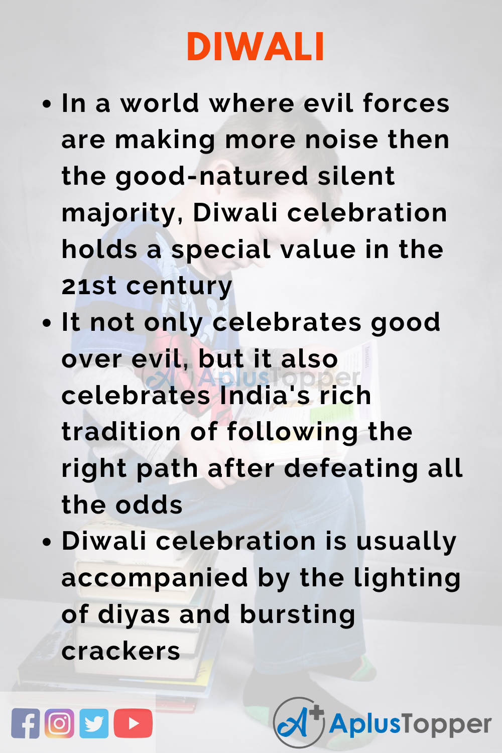 10 Lines on Diwali for Higher Class Students