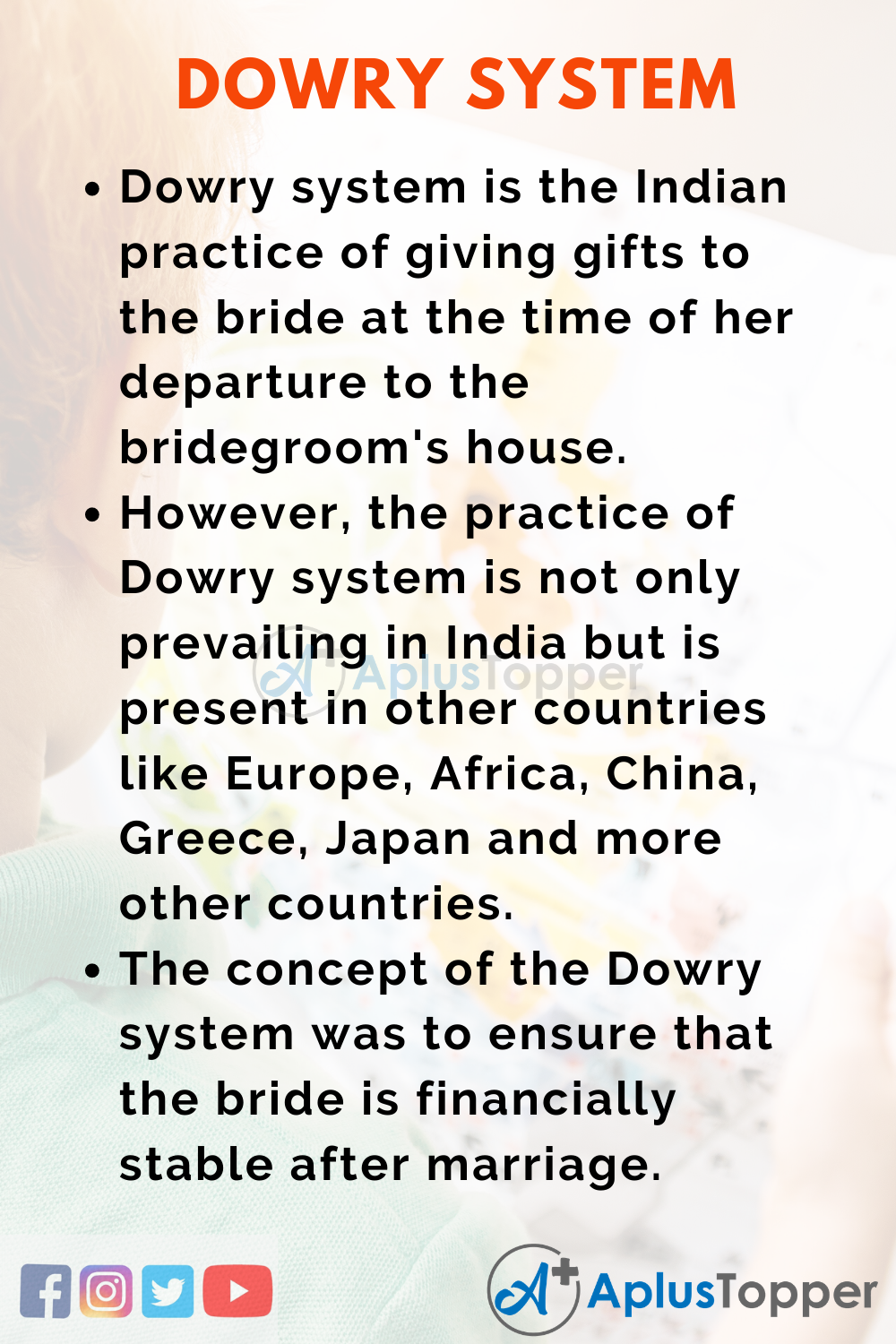 10 Lines on Dowry System for Kids