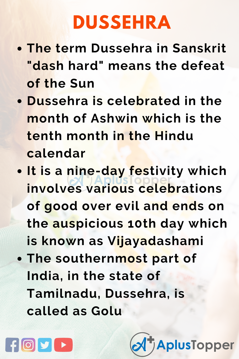 10 Lines on Dussehra for Higher Class Students