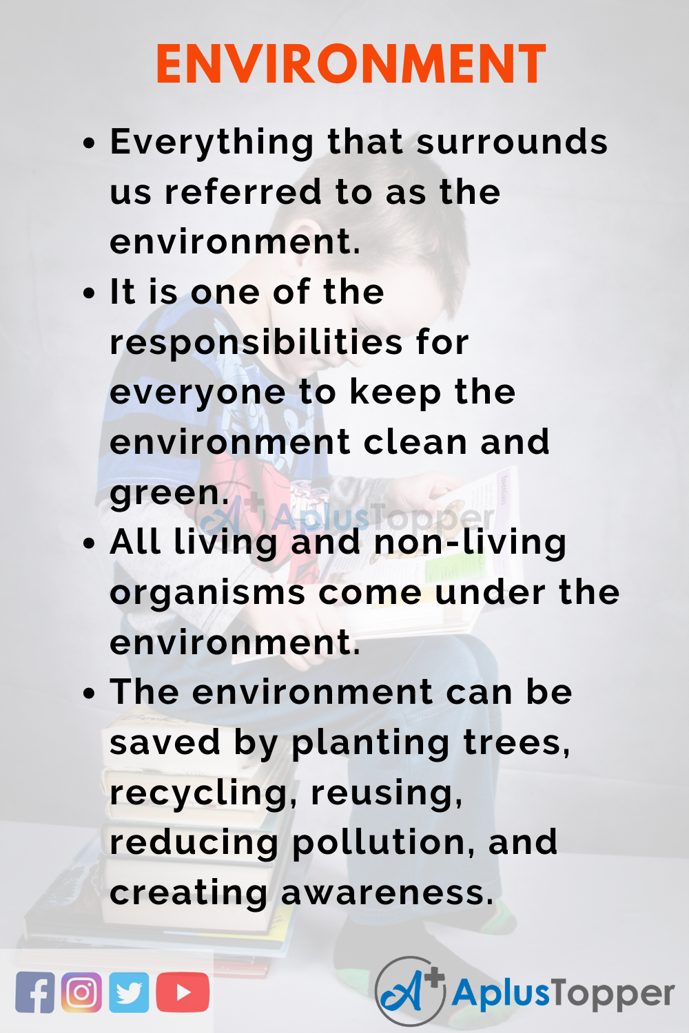 10 Lines on Environment for Higher Class Students