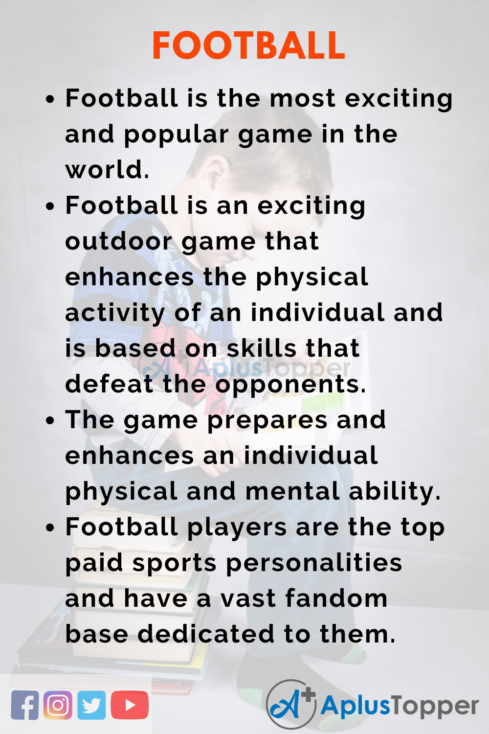 10 Lines on Football for Higher Class Students
