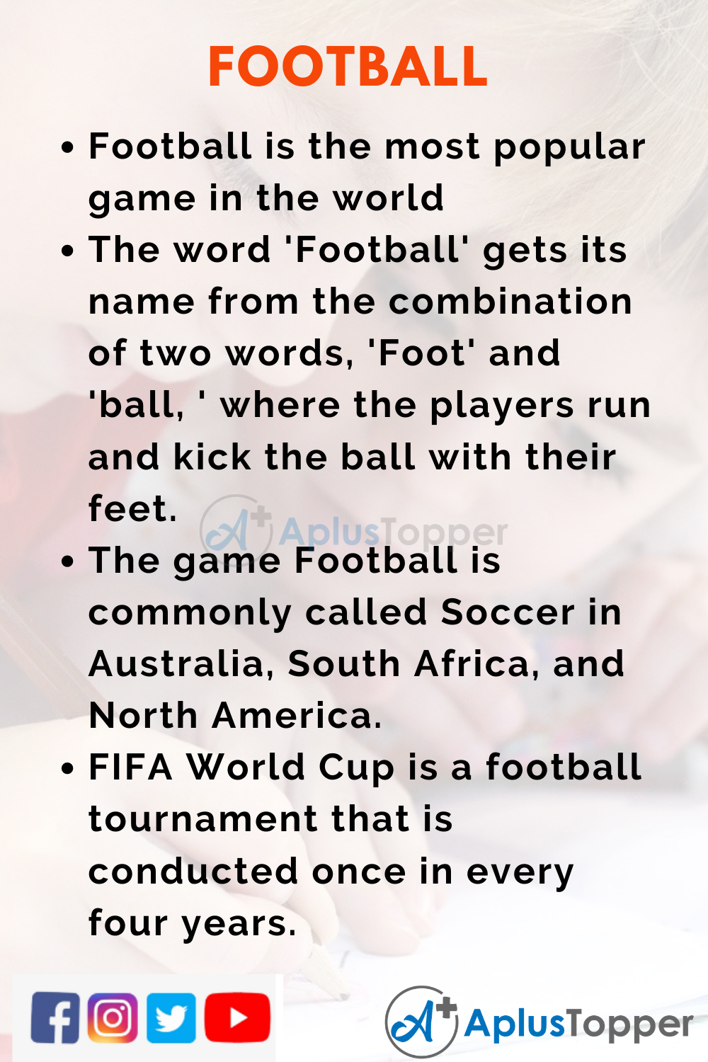 10 Lines on Football for Kids