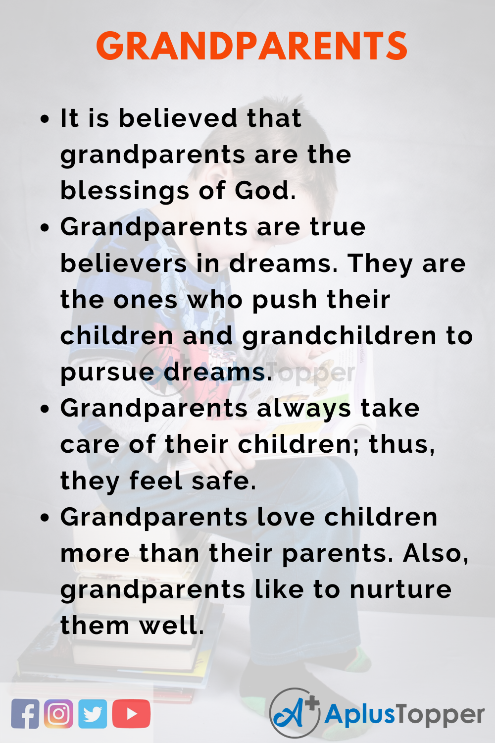 10 Lines on Grandparents for Higher Class Students