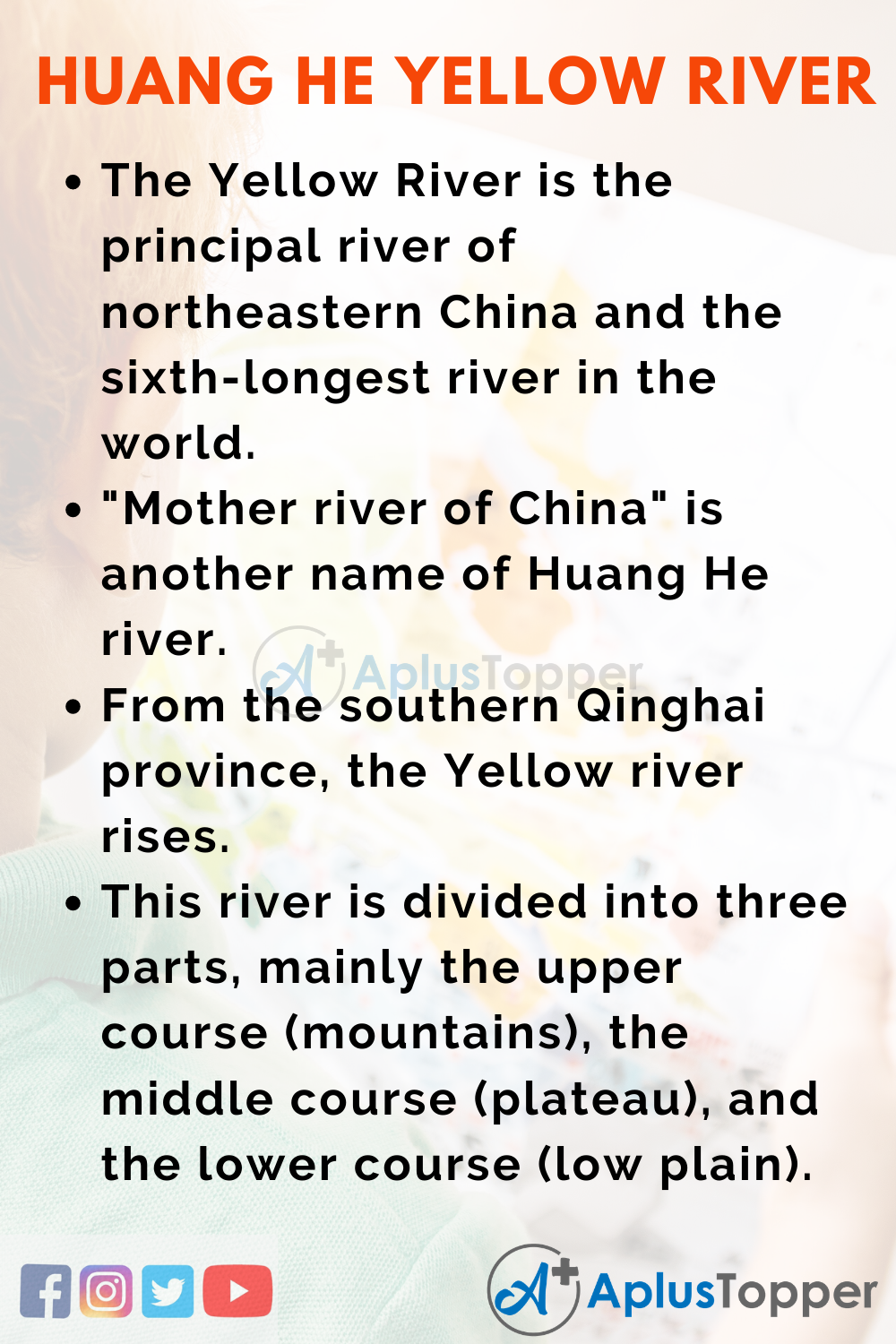 10 Lines on Huang He Yellow River for Higher Class Students