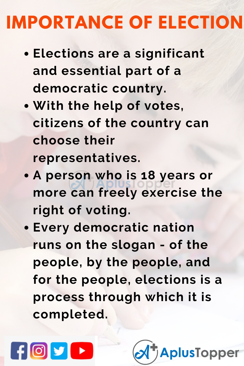 10 Lines on Importance of Election for Kids