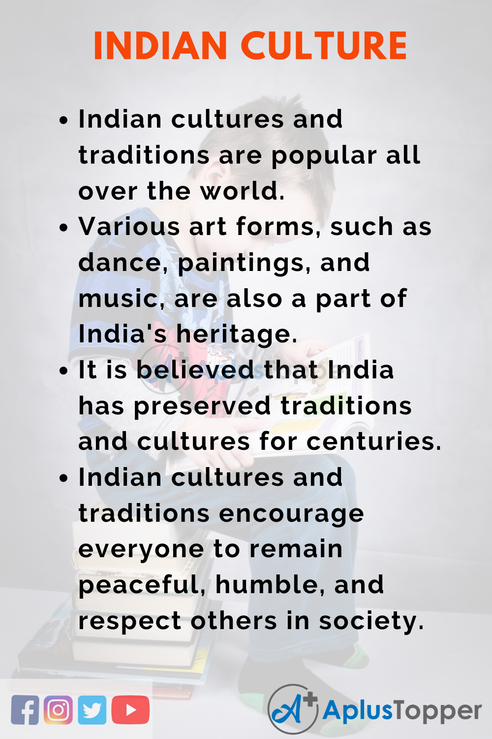 10 Lines on Indian Culture for Higher Class Students