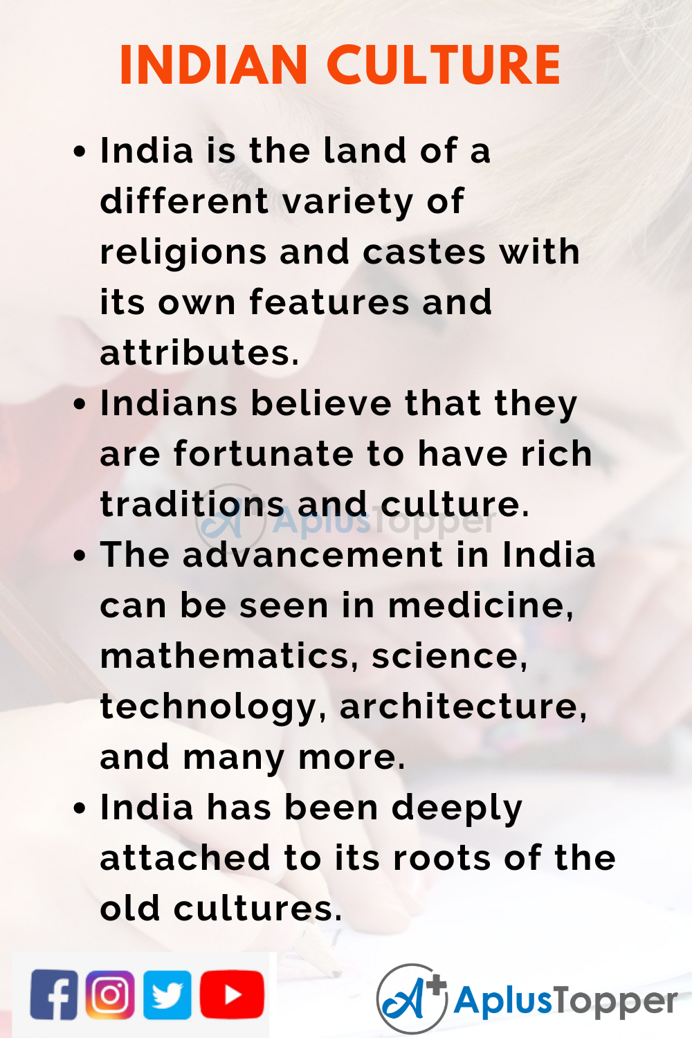 10 Lines on Indian Culture for Kids