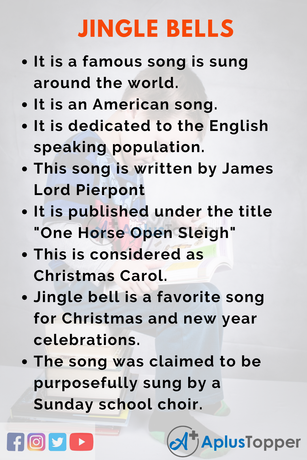 10 Lines on Jingle Bells for Higher Class Students