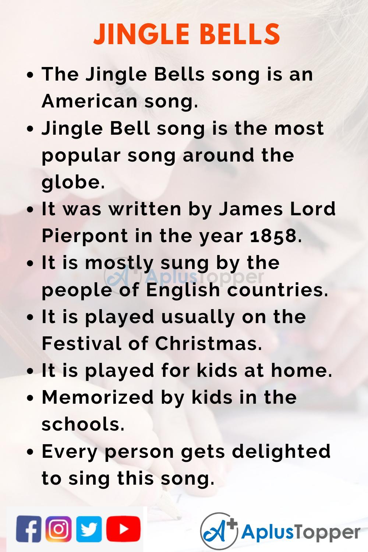 10 Lines on Jingle Bells for Kids