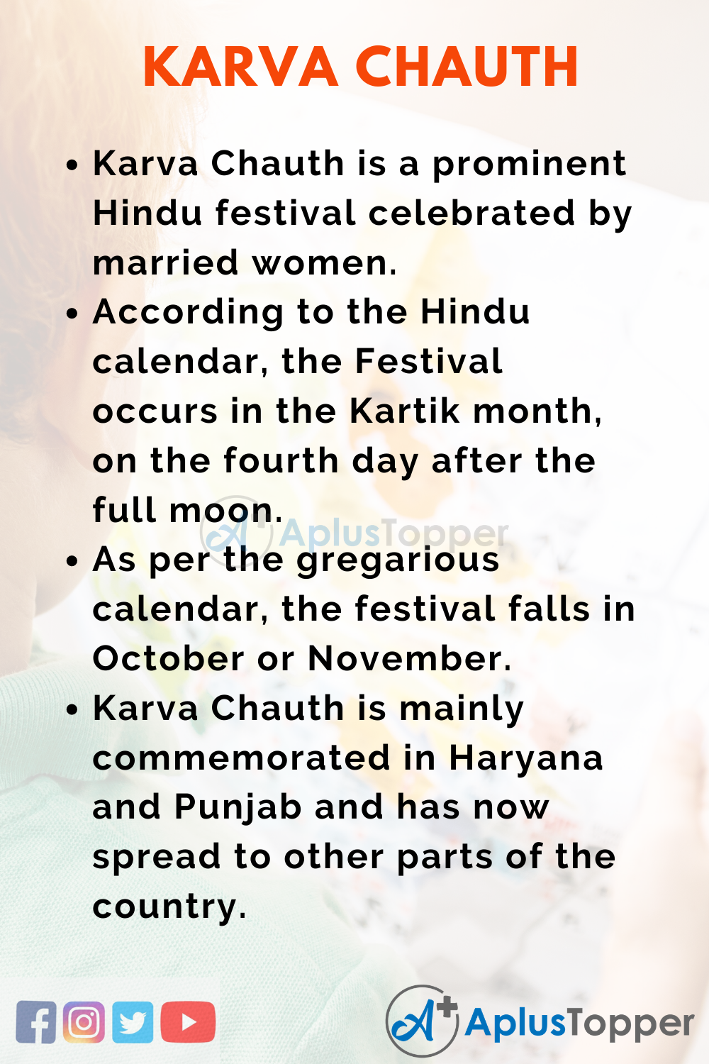 10 Lines on Karva Chauth for Kids