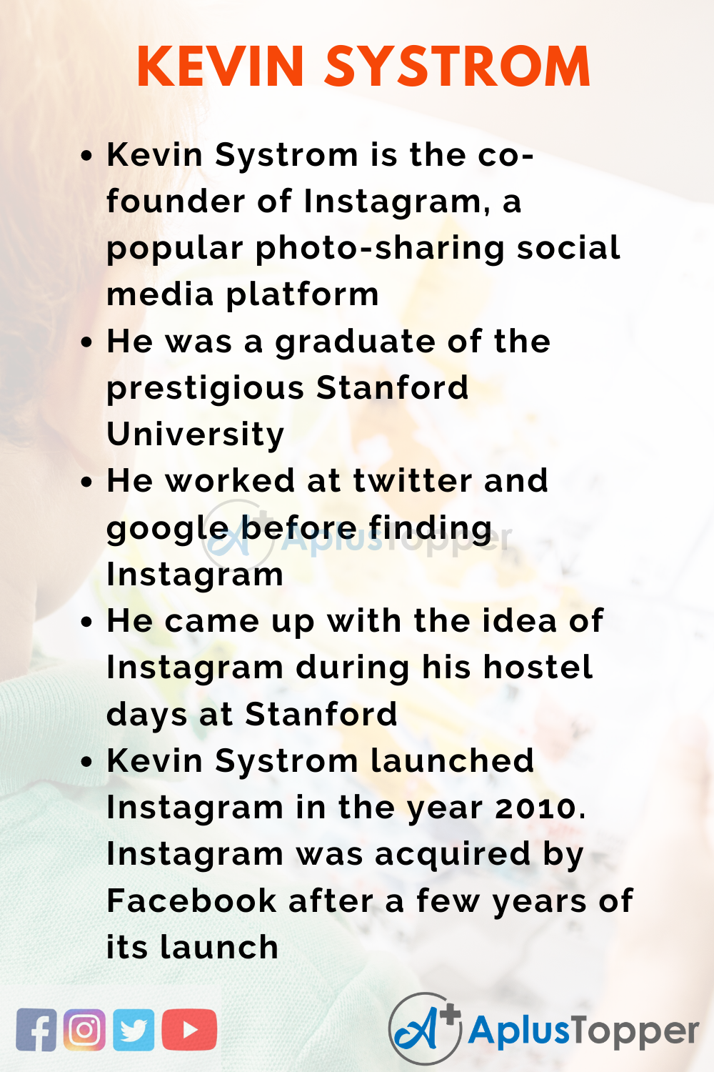 10 Lines on Kevin Systrom for Kids