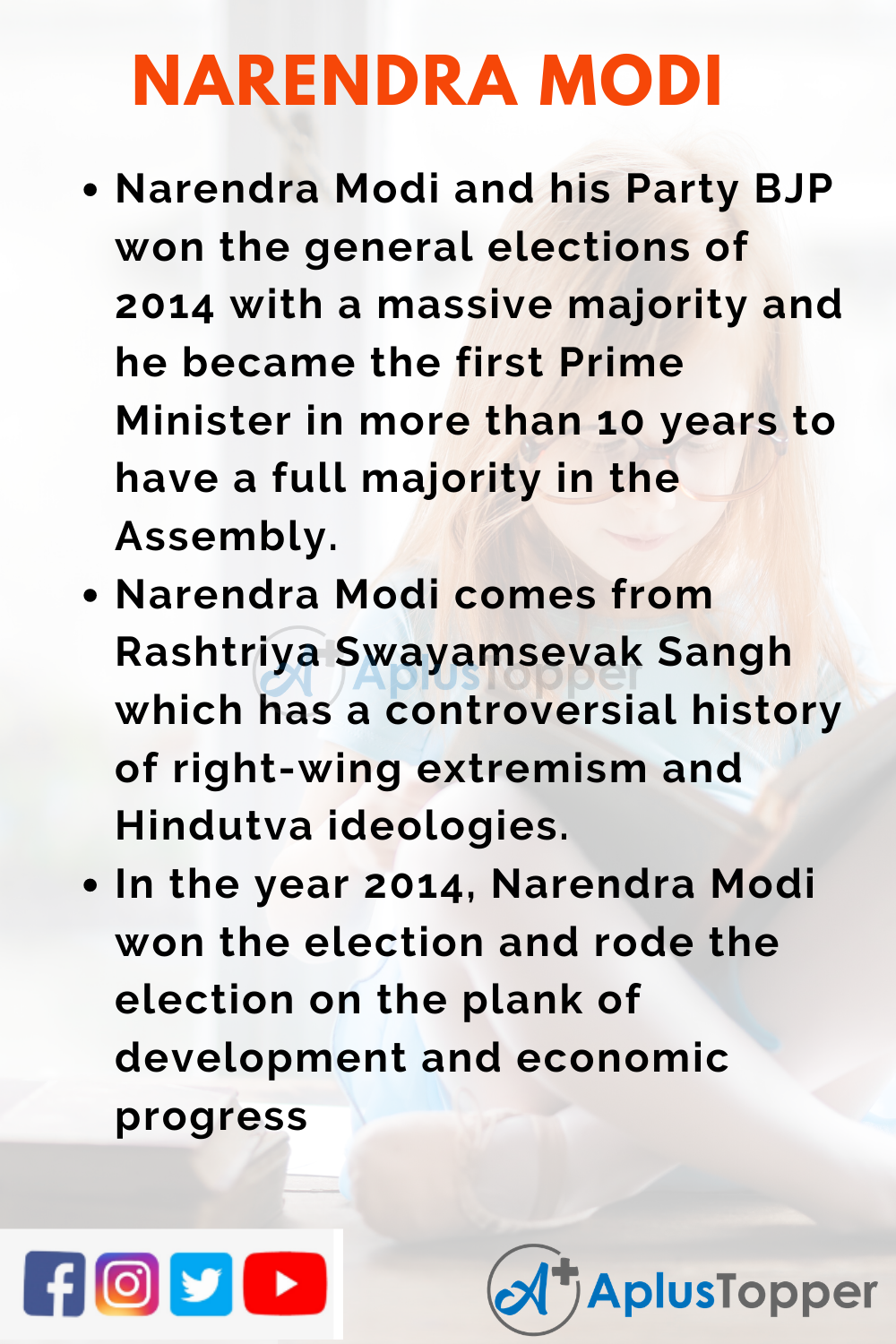 10 Lines on Narendra Modi for Higher Class Students