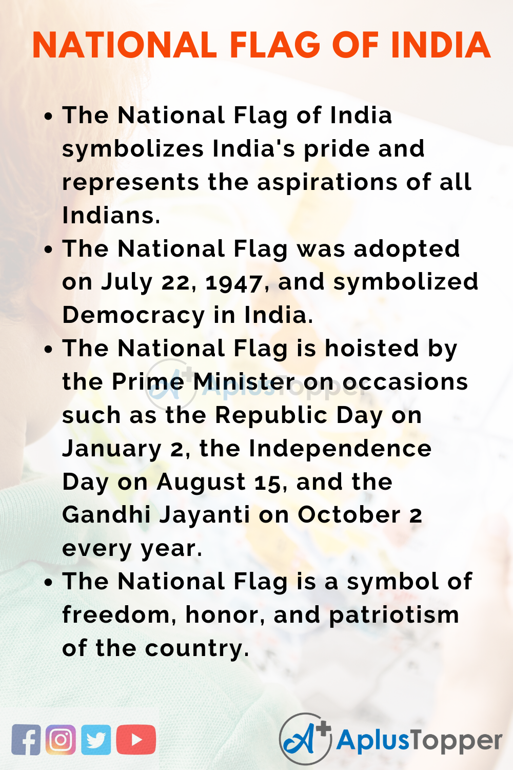 10 Lines on National Flag of India for Higher Class Students