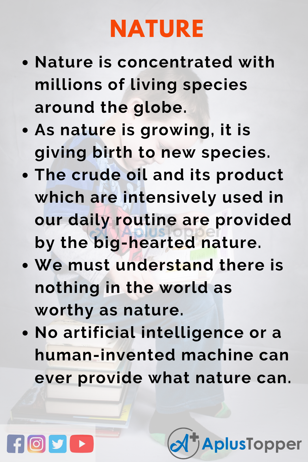10 Lines on Nature for Higher Class Students