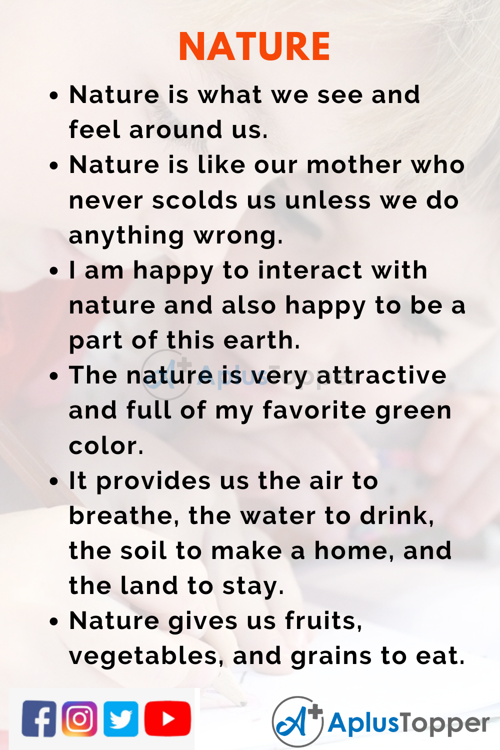 10 Lines on Nature for Kids