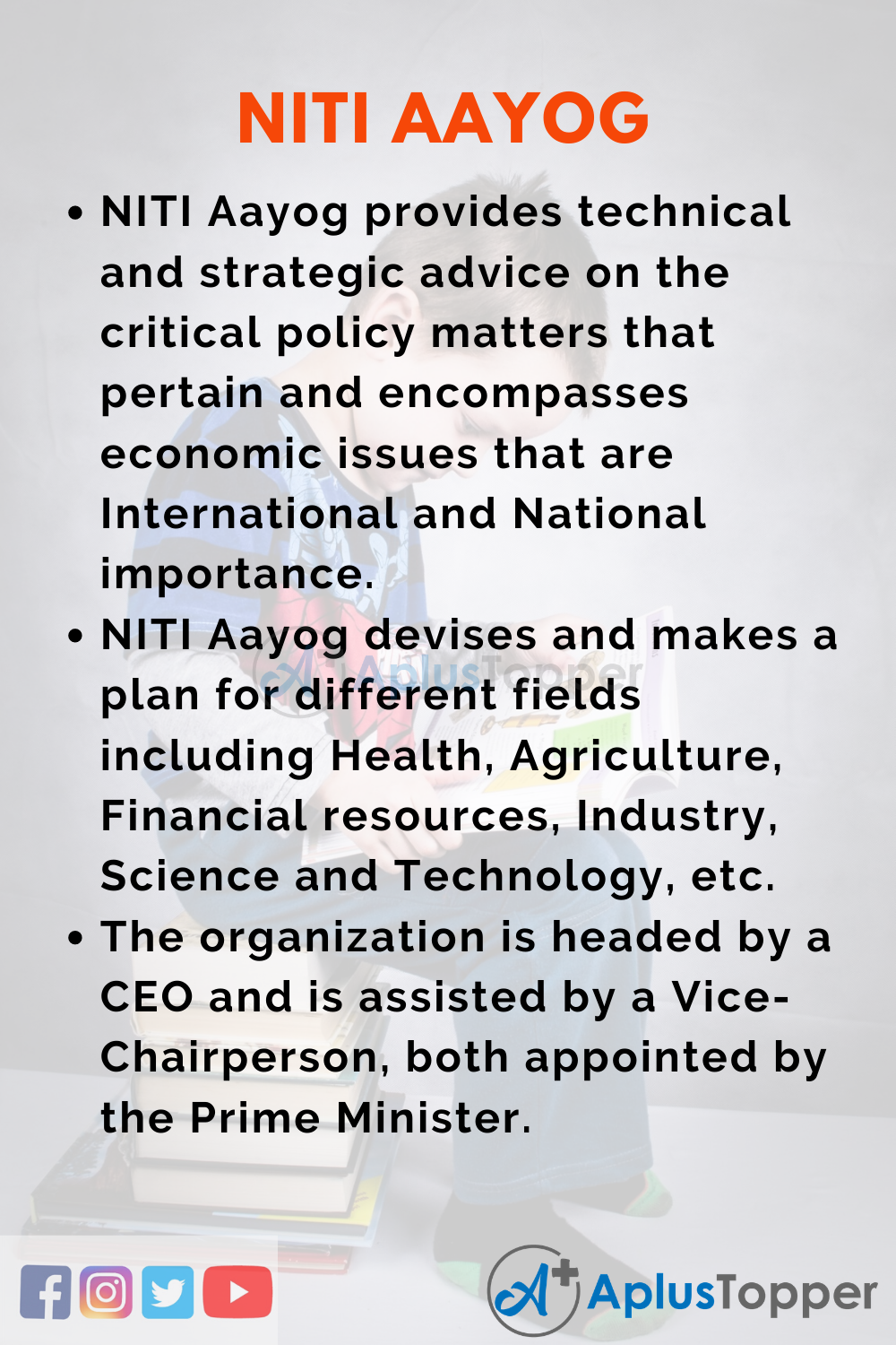 10 Lines on Niti Aayog for Higher Class Students