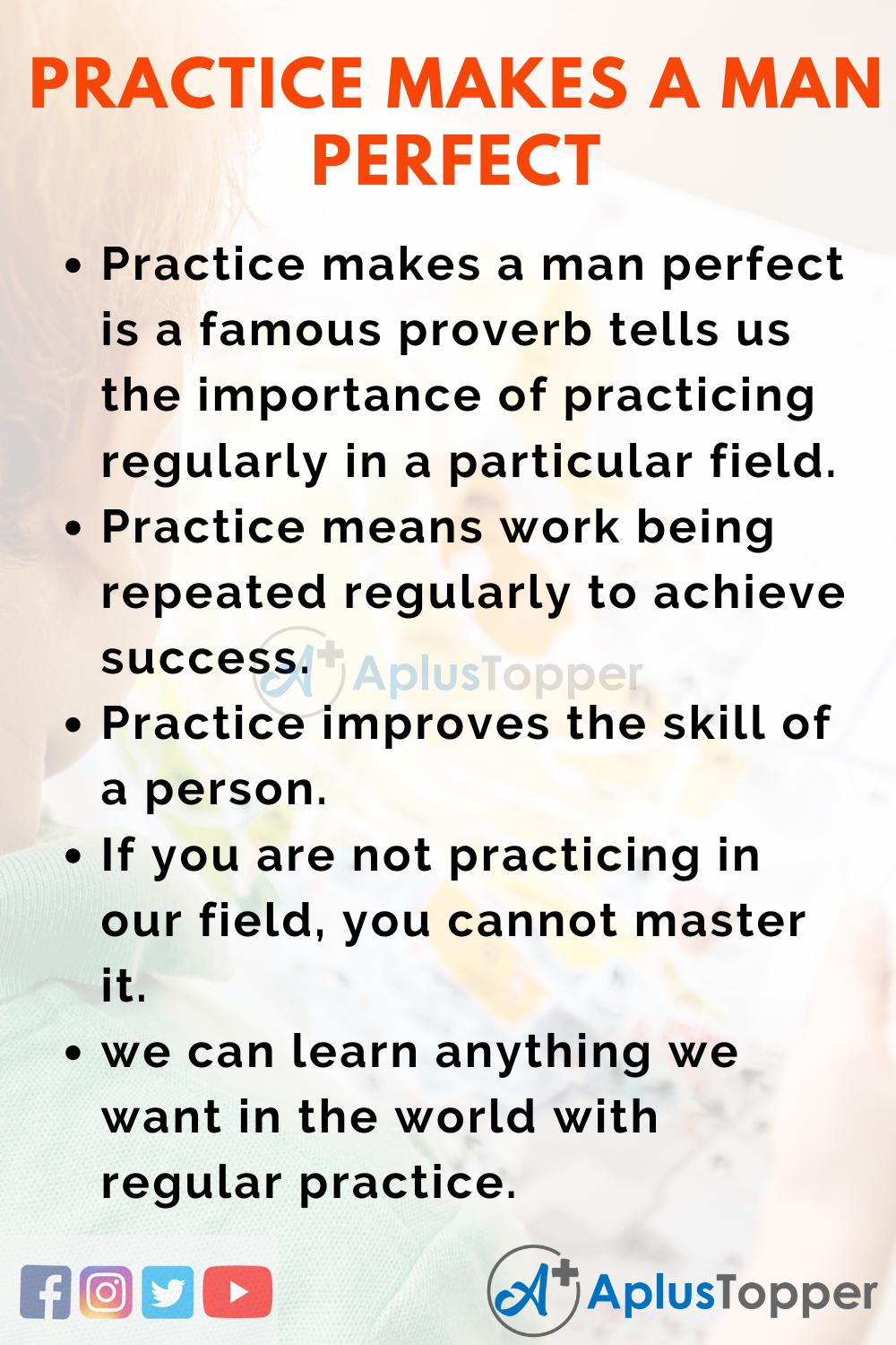 10 Lines on Practice Makes A Man Perfect for Kids