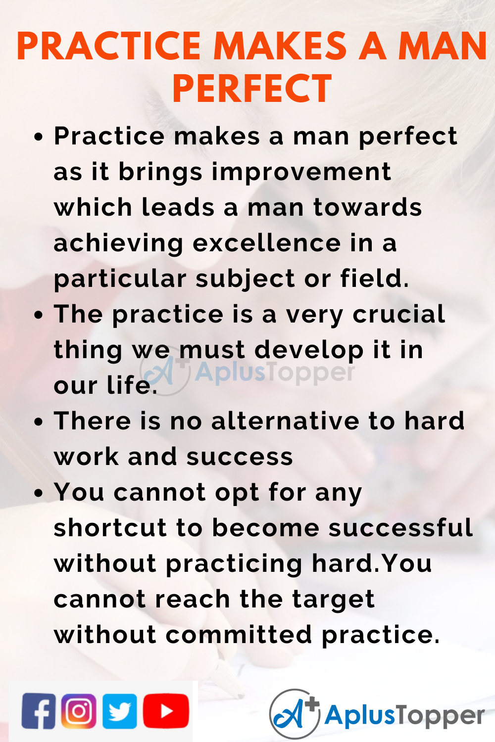 10 Lines on Practice makes a man perfect for Higher Class Students