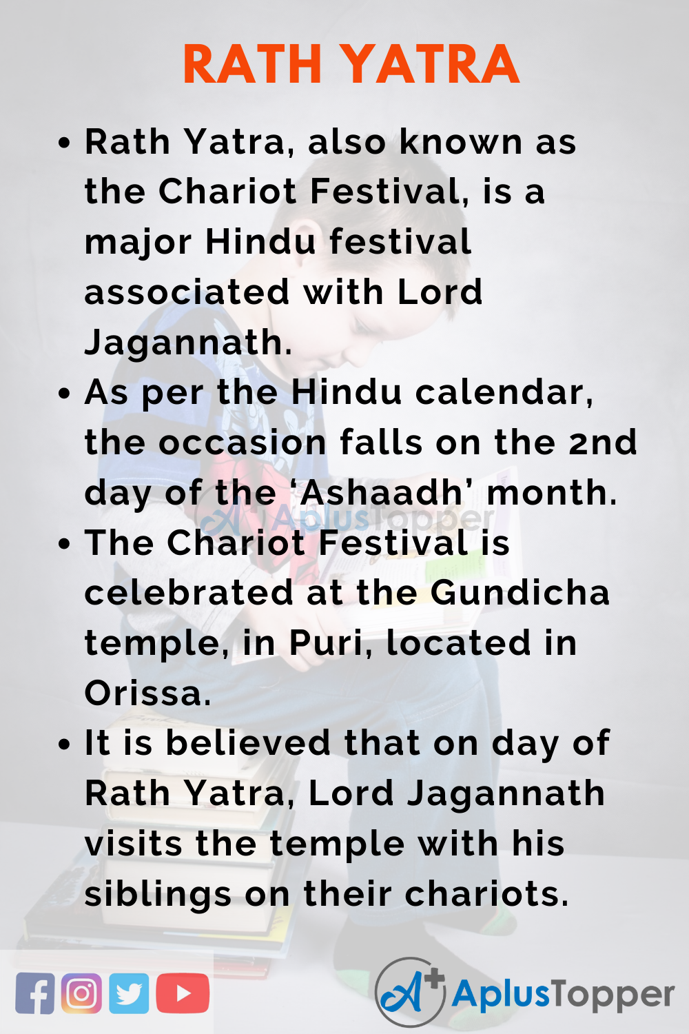 10 Lines on Rath Yatra for Kids