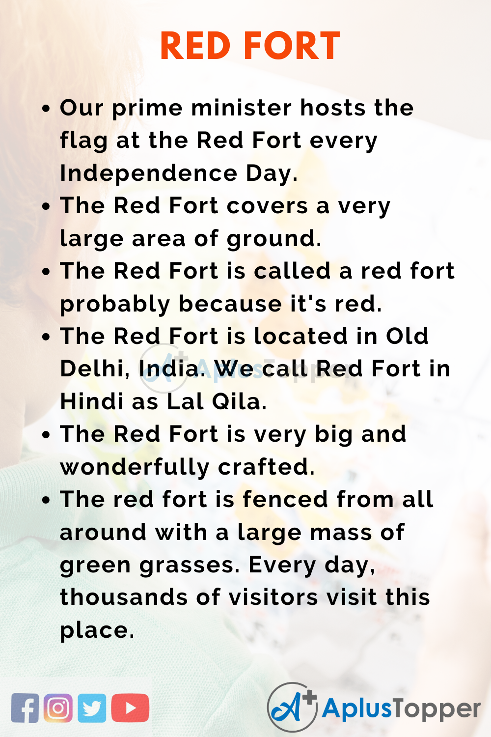 10 Lines on Red Fort for Kids